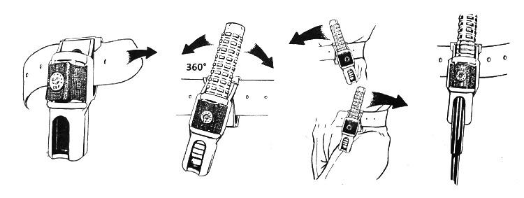 kabura 360 stopni do pałki esp