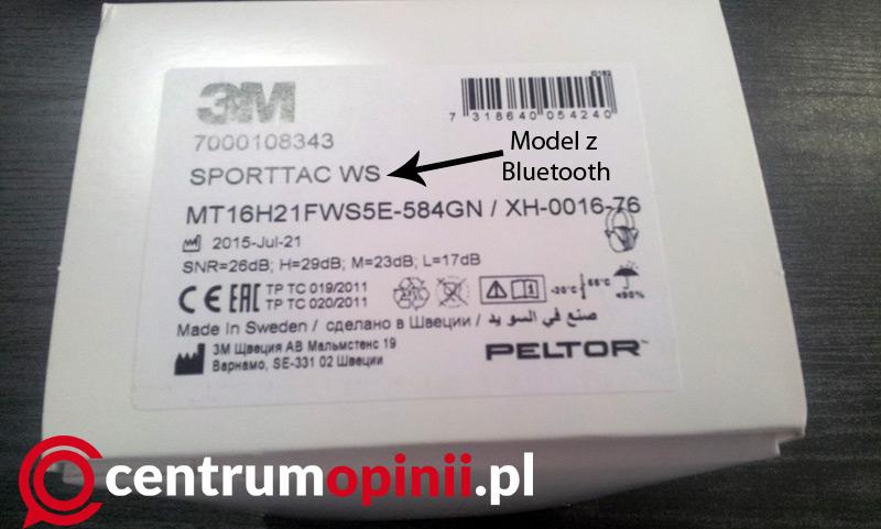 Słuchawki 3M Peltor Sporttac WS z Bluetooth