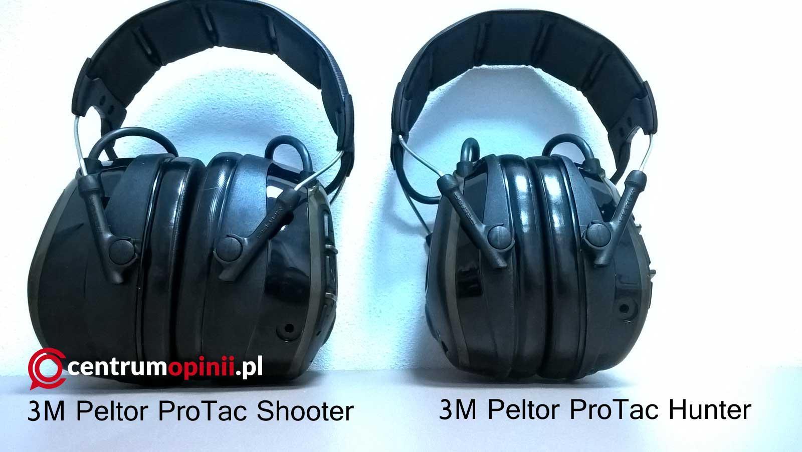 Słuchawki Peltor ProTac Hunter oraz ProTac Shooter porównanie.