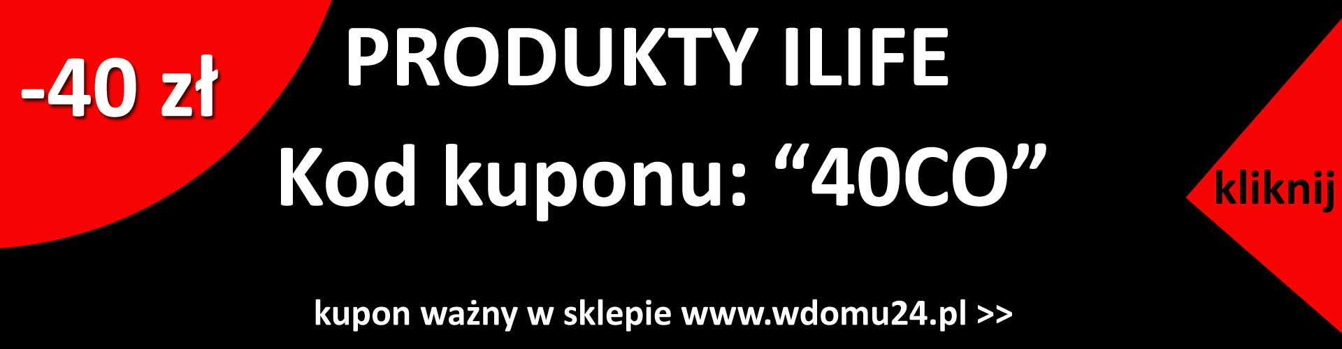 Ilife kod rabatowy kupon do sklepu wdomu24.pl