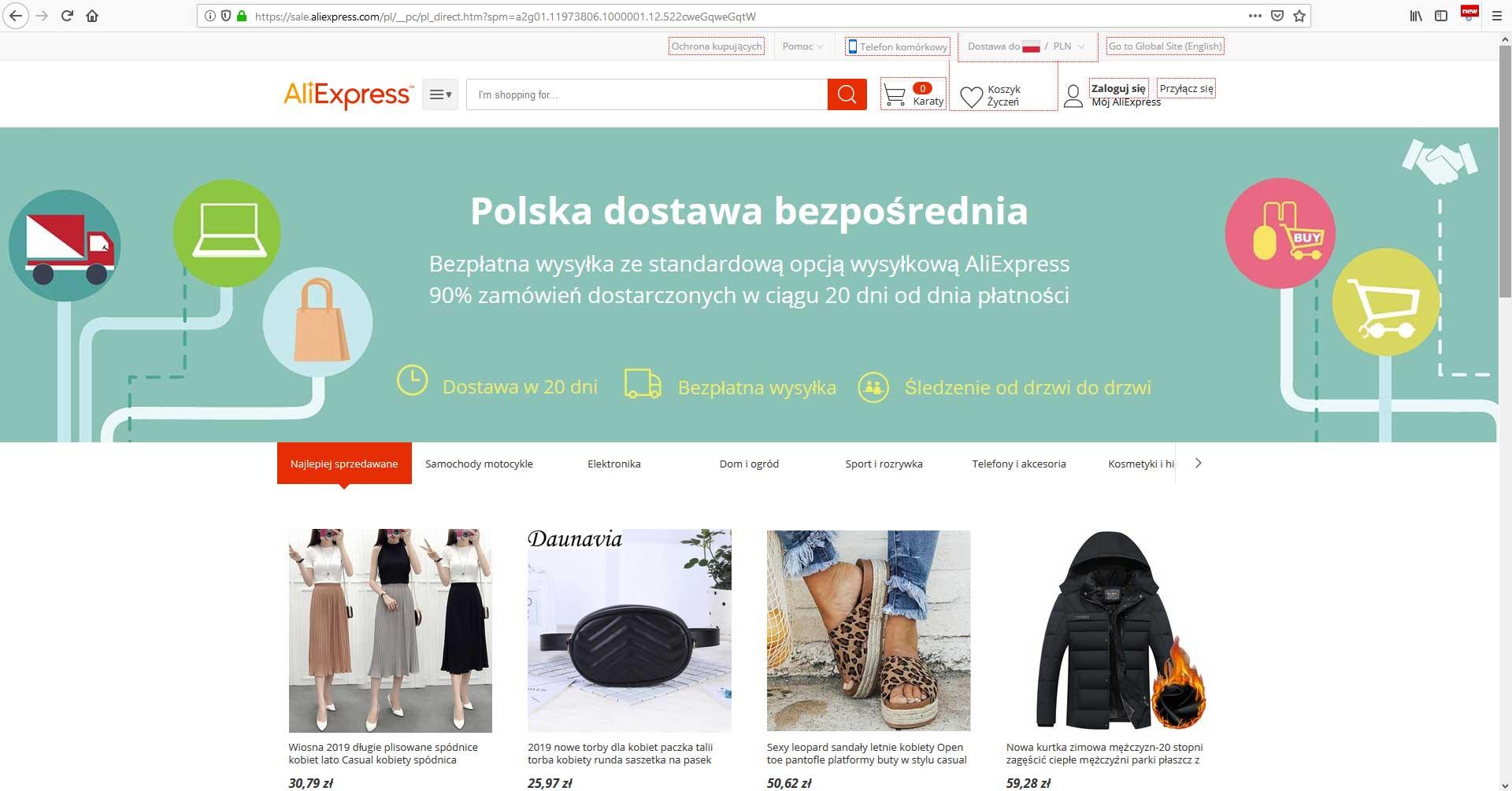 Aliexpress po polsku opinie