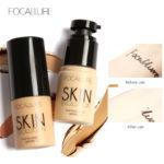 FOCALLURE baza twarzy płynny podkład w kremie pełne pokrycie korektor kontrola oleju łatwe do noszenia miękkie twarzy podkład do makijażu mega zniżka na Aliexpress