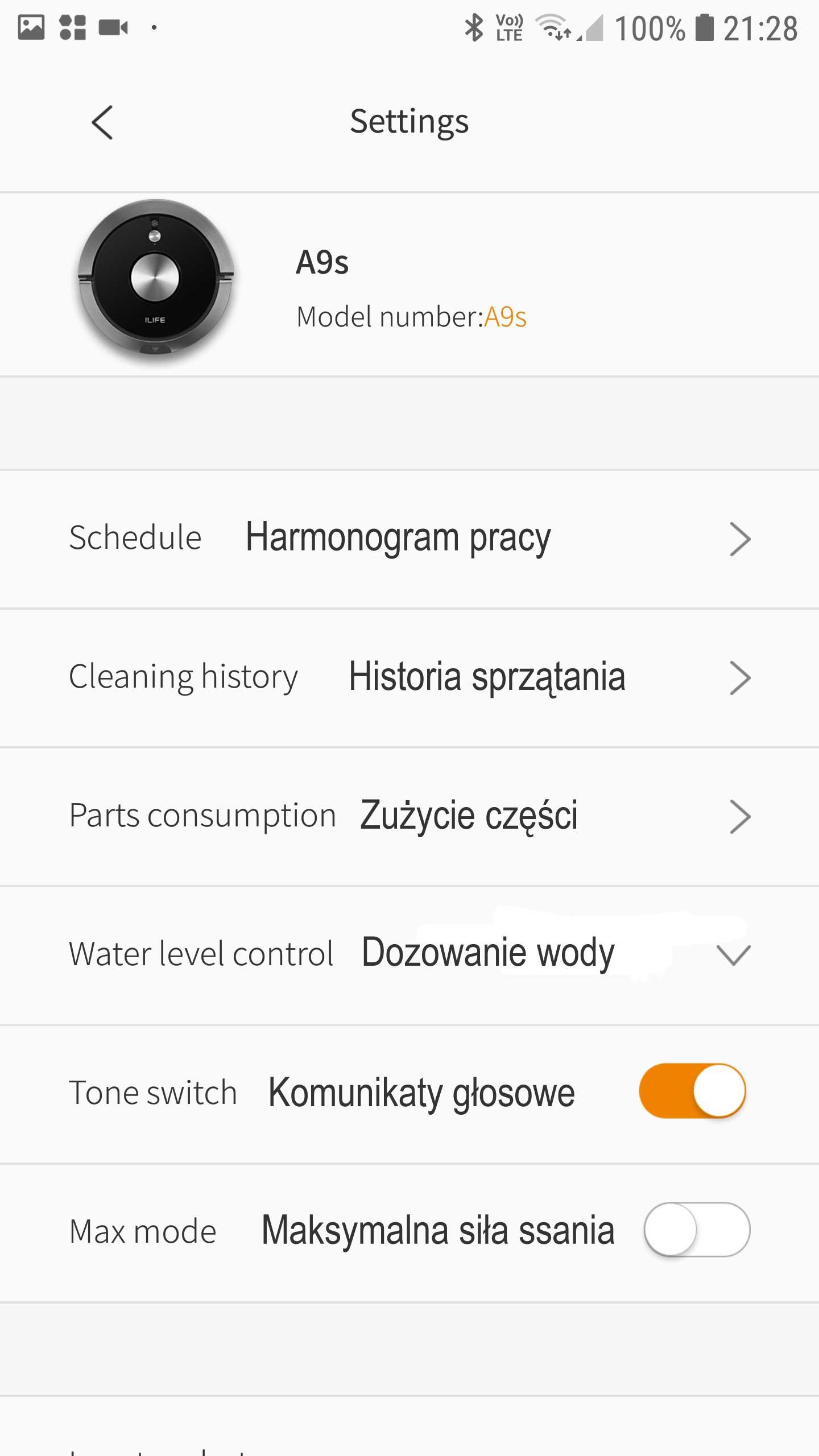 Ilife A9S Aplikacja