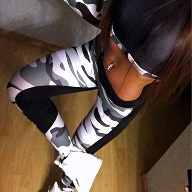 Wysokiej jakości kobiety legginsy wysokie elastyczne spodnie Skinny kamuflaż Legging wiosna 2019 nowy lato damskie wygodne spodnie jegginsy wyszczuplające