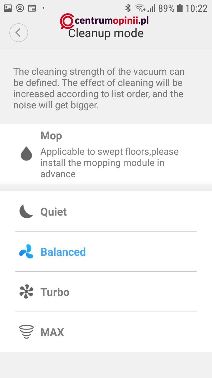 Aplikacja Xiaomi Home dla Roborock S50