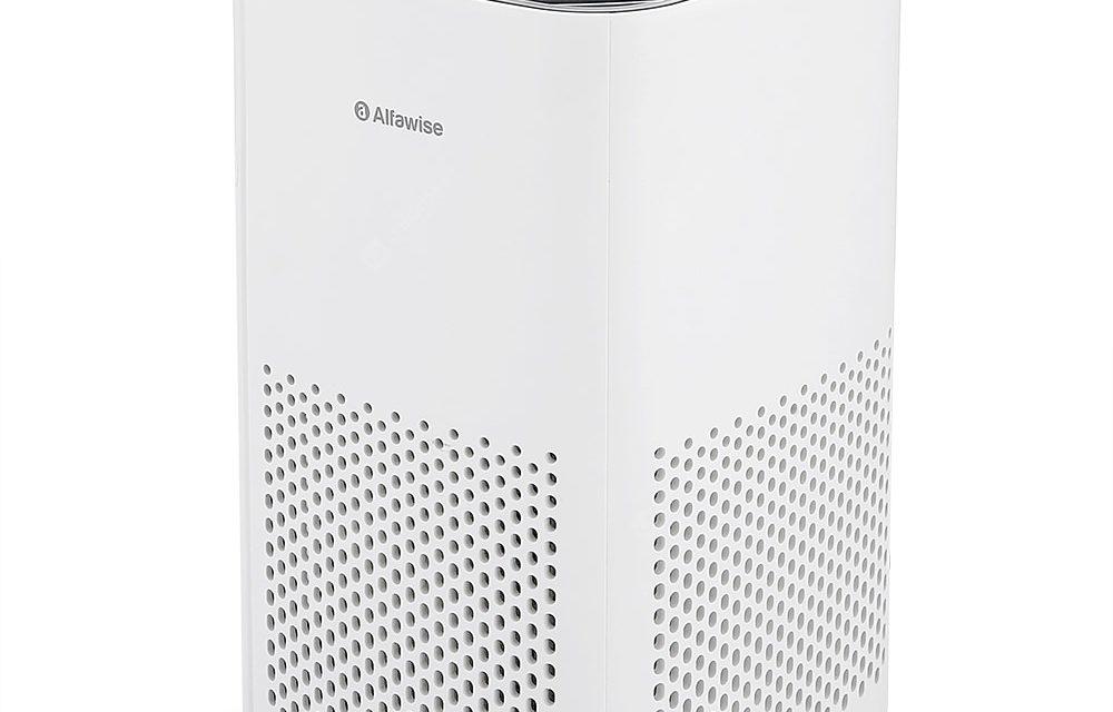 Alfawise P1 Mini Oczyszczacz Powietrza na Biurko Filtr HEPA teraz taniej w sklepie Gearbest
