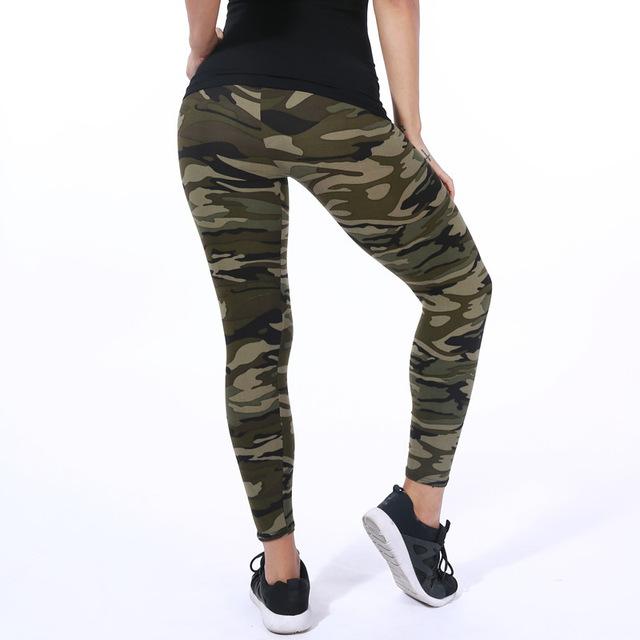 ARDLTME wysokiej jakości kobiet legginsy wysokiej elastyczny Skinny kamuflaż Legging wiosna lato damskie wygodne spodnie jegginsy wyszczuplające
