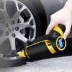 Bezprzewodowa ręczna mini elektryczna pompa powietrza samochodowego teraz taniej w sklepie Gearbest