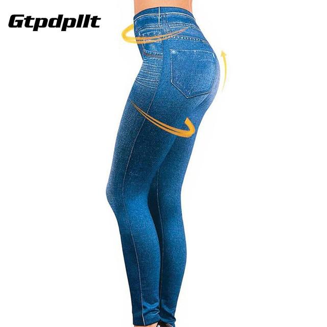 Gtpdpllt S-XXL kobiety podszyty polarem zima Jegging dżinsy Genie Slim moda Jeggings legginsy 2 prawdziwe kieszenie kobieta spodnie do fitnessu