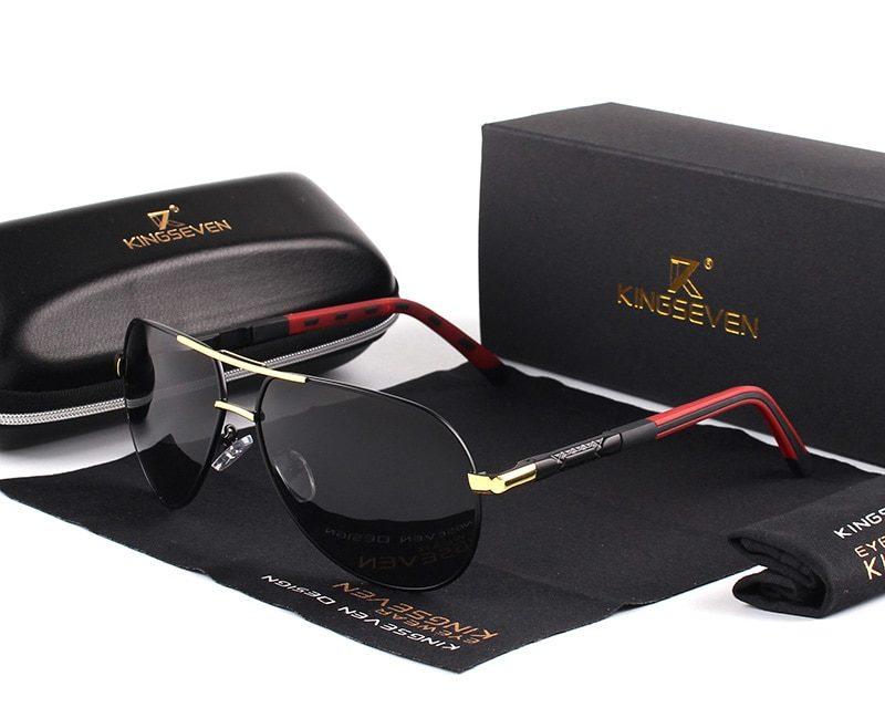 KINGSEVEN mężczyźni w stylu Vintage aluminium spolaryzowane okulary klasyczne marki okulary powłoka soczewki jazdy odcienie dla mężczyzn/kobiet promocja na Aliexpress