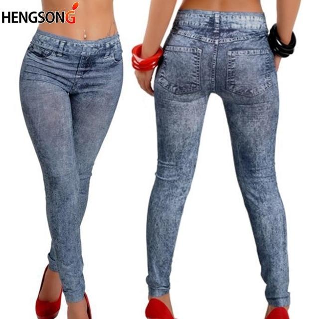 Moda kobiety na co dzień Slim Legging Stretch Denim legginsy Jeggings wiosna jesień Denim legginsy niebieski plisowana szczupła wszystkie mecze
