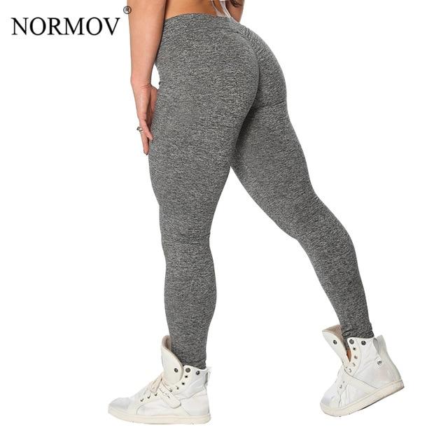 NORMOV S-XL 3 kolorów na co dzień Push Up legginsy damskie letnie treningowe poliester Jeggings oddychające legginsy kobiet