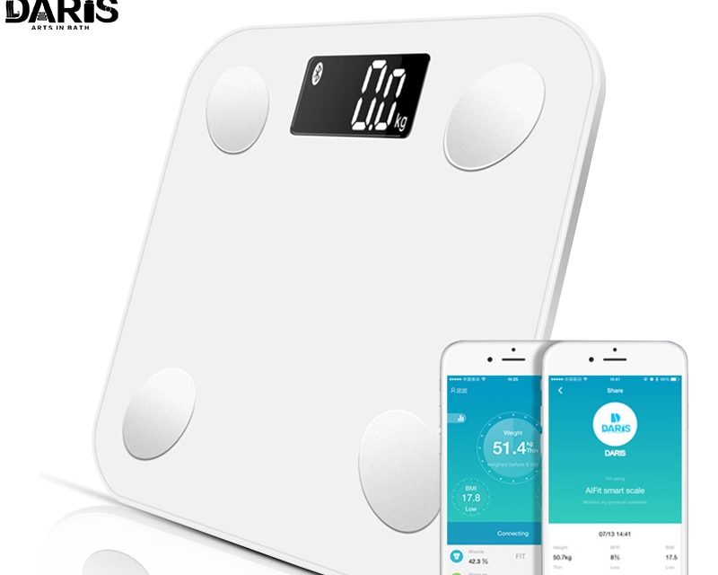 SDARISB Bluetooth wagi podłogowe masy ciała waga łazienkowa inteligentny wyświetlacz z podświetleniem waga ciała masa ciała woda masa mięśniowa BMI mega zniżka na Aliexpress