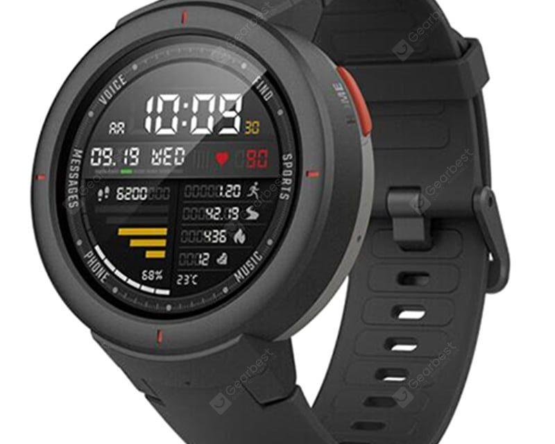 Wielofunkcyjny wodoodporny zegarek praktyczny AMAZFIT Verge IP68 (produkt ekosystemu Xiaomi) z rabatem w sklepie Gearbest