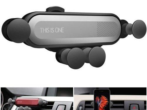 Obrót o 360 stopni Gravity Car Air Outlet Uchwyt na telefon iPhone / Huawei mega okazja w sklepie Gearbest