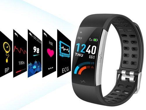 Alfawise I7E Full Touch Monitor EKG tętna w czasie rzeczywistym Smart Watch gorąca oferta w sklepie Gearbest