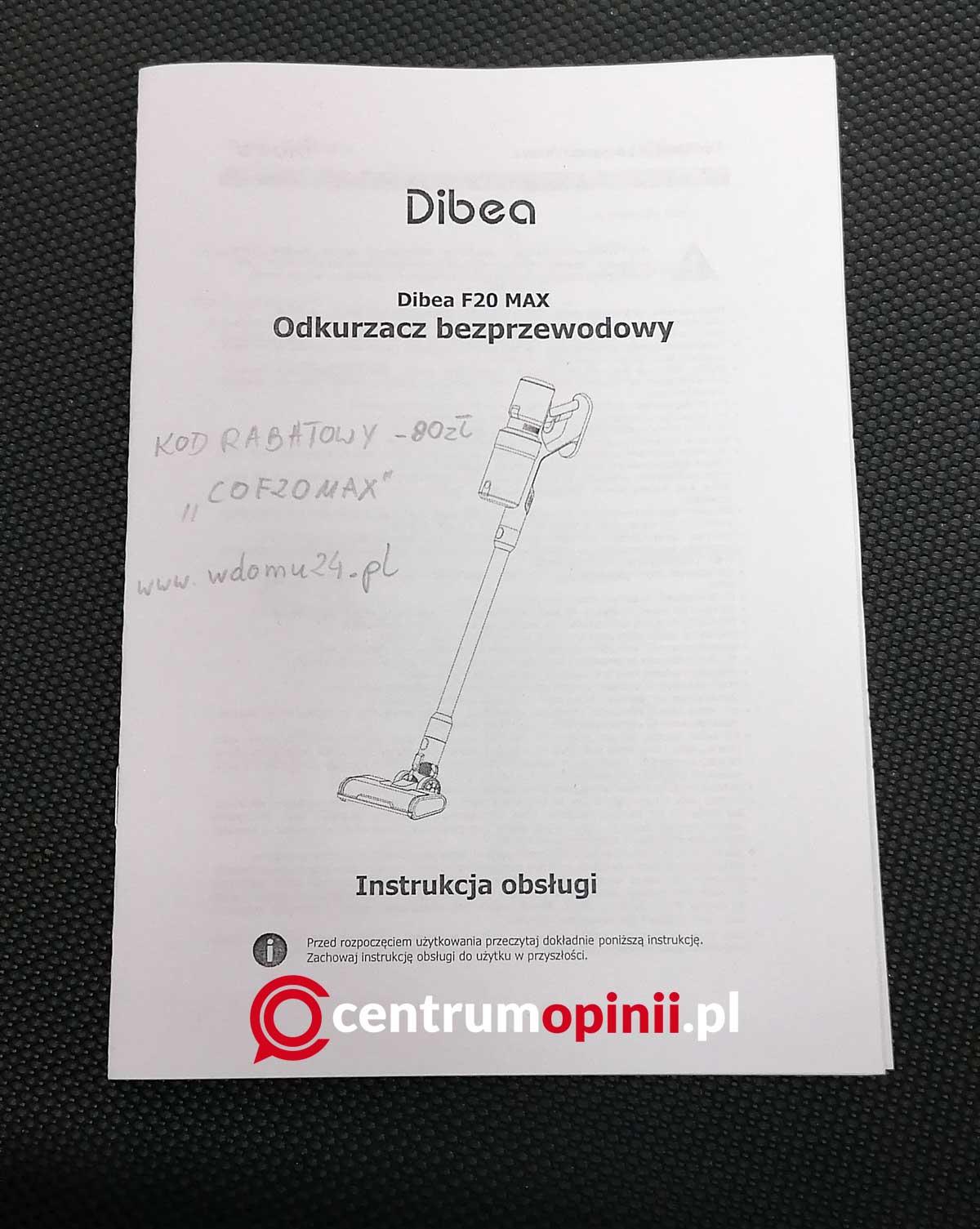 Dibea F20 Max opinie test i recenzja odkurzacza pionowego