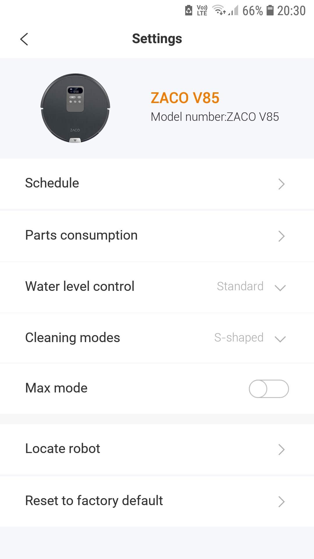 ZACO V85 aplikacja