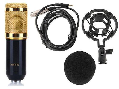 BM-800 Profesjonalne Studio Mikrofon pojemnościowy nagrywania dźwięku + Plastic Shock Zestaw montażowy do nagrywania kusząca oferta w sklepie Gearbest