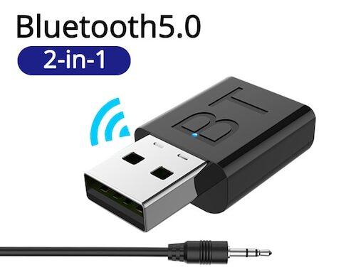 LEEHUR USB Bluetooth 5.0 Nadajnik Odbiornik Stereo 3,5 mm AUX Do telewizora PC Słuchawki Domowy samochód stereo ze zniżką w sklepie Gearbest